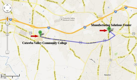 Manufacturing Solution Center Map