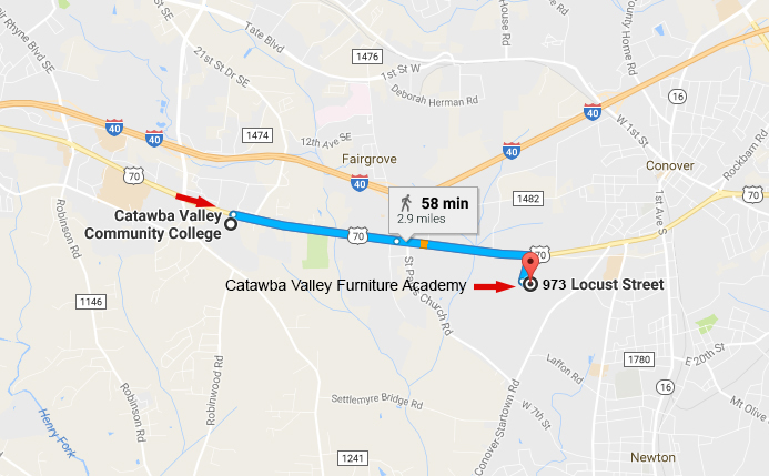 Catawba Valley Furniture Academy Directions