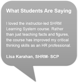 SHRM Testimonial - transcript on webapge