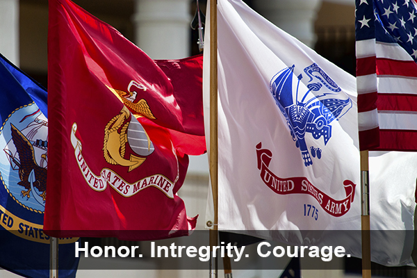 Veterans - Honor. Integrity. Courage.